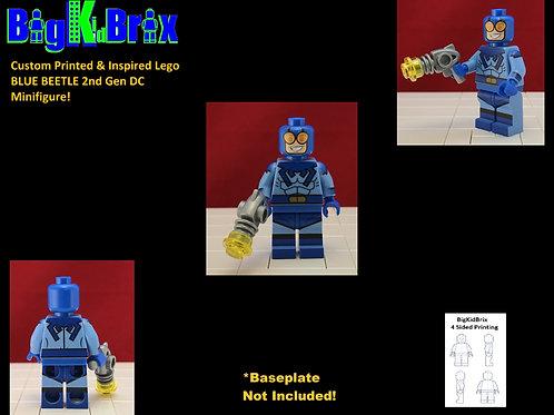 Blue Beetle 2nd Gen Custom Printed & Inspired Lego DC Minifigure