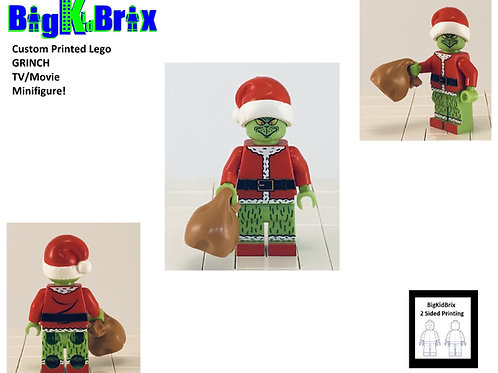 GRINCH Christmas Custom Printed Lego Inspired TV Minifigure