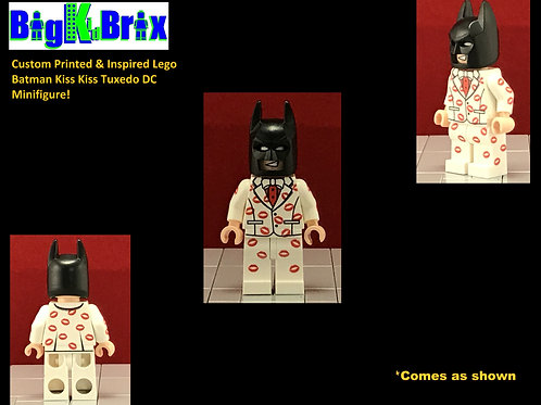 BATMAN KISS KISS Tuxedo Custom Printed & Inspired Lego DC Minifigure