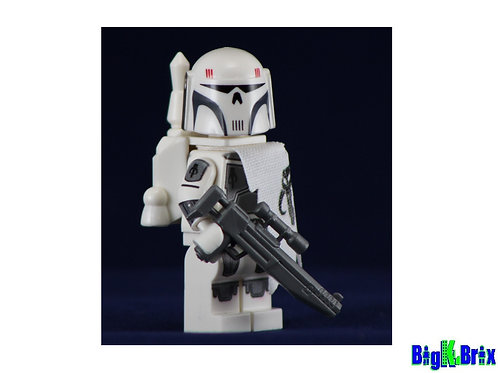 MANDALORIAN EXECUTIONER WHITE Custom Printed on Lego Minifigure! Star Wars