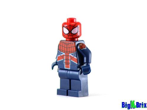 SPIDERMAN UK Custom Printed on Lego Minifigure! Marvel