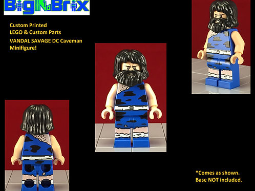 Vandall Savage DC Cave Man Version Lego Game Inspired Custom Printed Minifigure