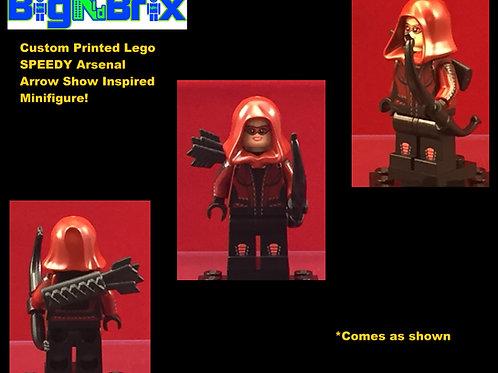 Speedy Arsenal Green Arrow Show Inspired DC Custom Printed Minifigure
