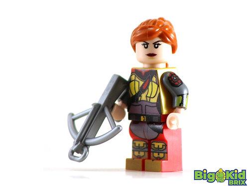 SCARLET Custom Printed on Lego Minifigure!  GI Joe