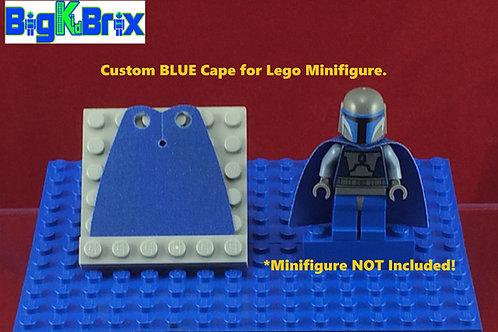 Cape BLUE Custom for Lego Minifigures Minifigs