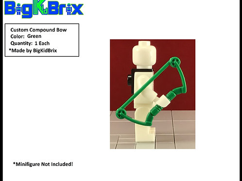 Bow Compound GREEN Custom for Lego Minifigures Minifigs