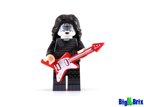 ACE FREHLEY Custom Printed on Lego Minifigure! KISS Musician
