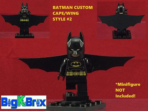 BATMAN Winged Cape Style #2 Custom Made for Lego Minifigures Minifigs