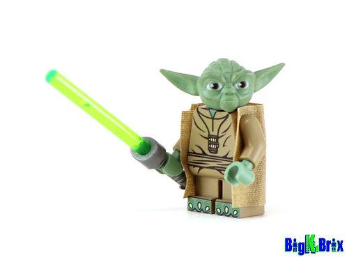 YODA Jedi Custom Printed on Lego Minifigure! Star Wars