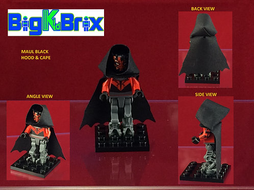 Hood & Cape BLACK for Darth Maul Cyborg Lego Minifigure