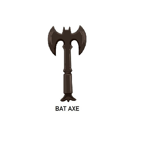 Batman BLACK Custom Bat Axe for Lego Batman Minifigures Minifigs