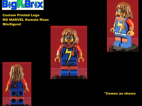 MS Marvel Kamala Khan Marvel Custom Printed Minifigure
