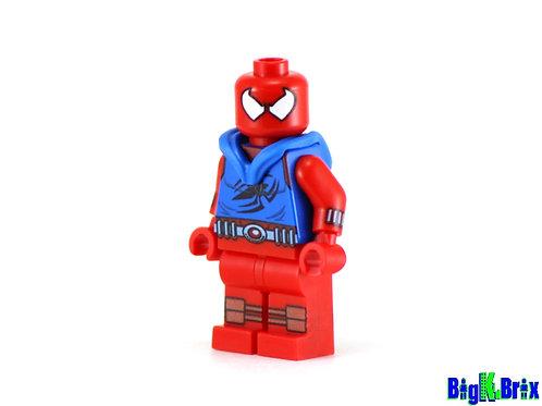 SCARLET SPIDERMAN Custom Printed & Inspired Lego Marvel Minifigure