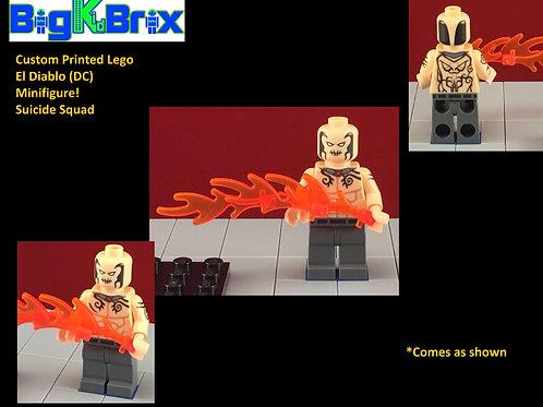 El Diablo Suicide Squad DC Custom Printed Minifigure