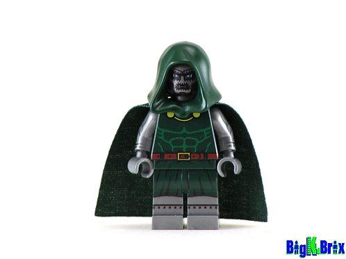 DOCTOR DOOM Flat Silver Custom Printed on Lego Minifigure! Marvel