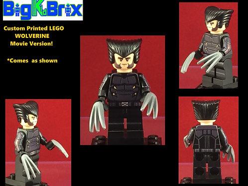 Wolverine Custom Printed & Inspired Lego Marvel Movie Minifigure