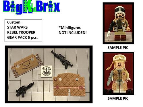 REBEL TROOPER Custom Gear Pack 5pcs for Star Wars Lego Minifigures