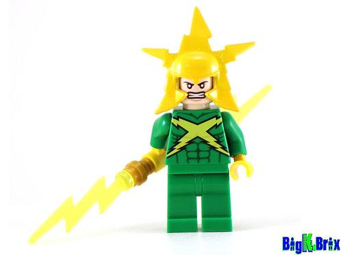ELECTRO Comic Version Custom Printed on Lego Minifigure! Marvel