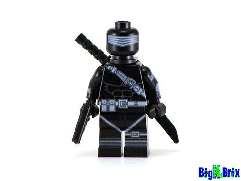 SNAKE EYES Custom Printed Lego GI JOE Minifigure