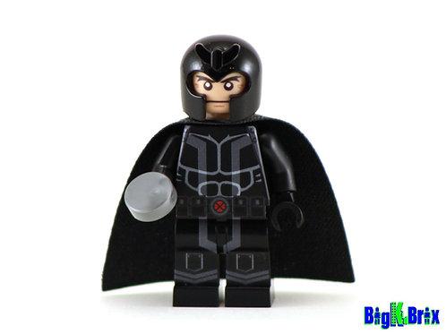 MAGNETO Black Custom Printed & Inspired Lego Marvel Minifigure!