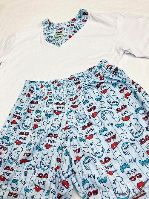 Pijama Curto Game Azul V