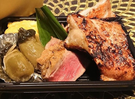 二色のり弁と焼き魚弁当1200円