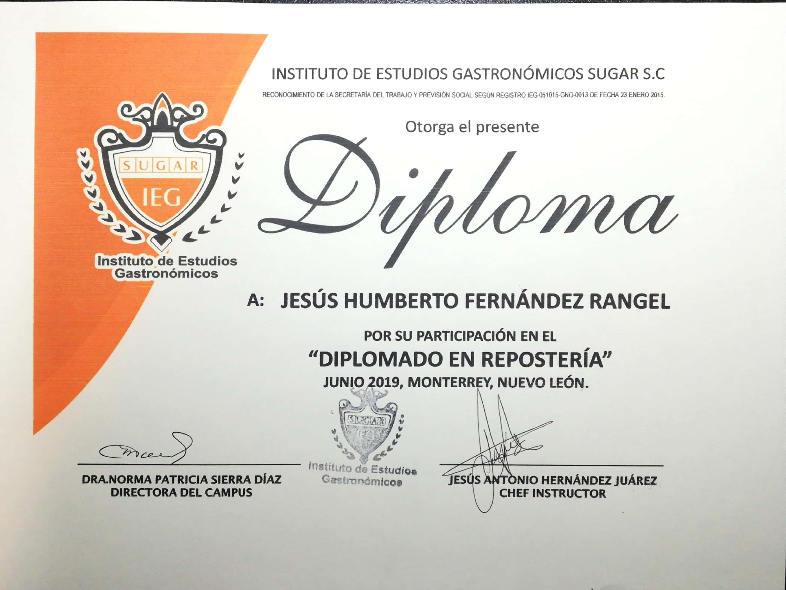 Diplomado Repostería