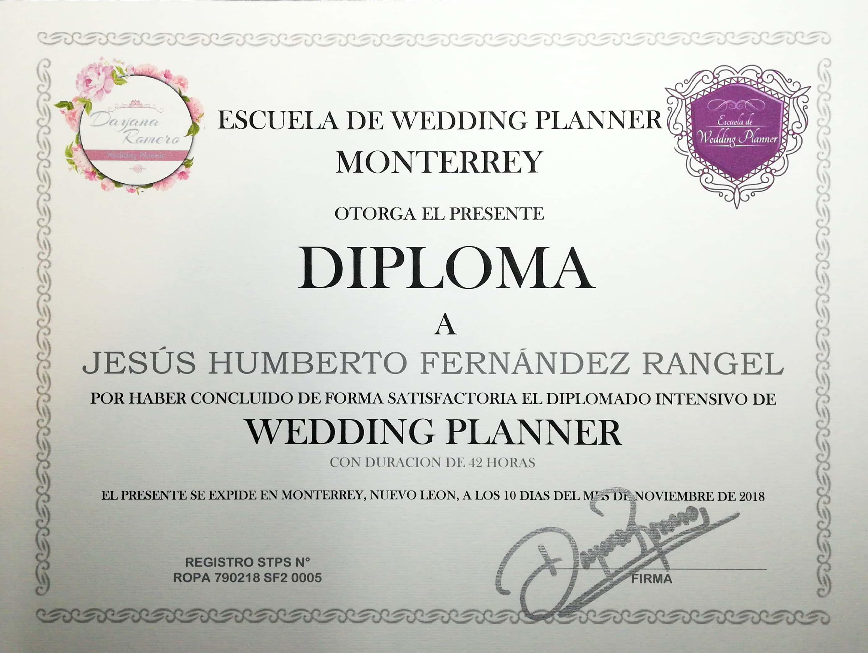 Diplomado Intensivo Wedding Planner