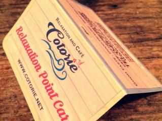 スタンプカードできました!!