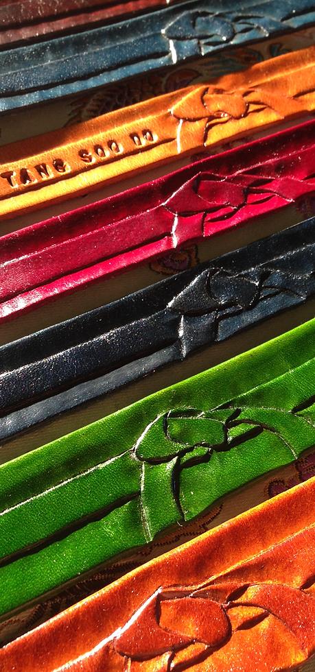 Handmade Leather Bracelets for Tang Soo Do