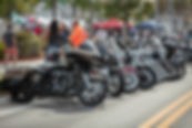 motocyles lined up