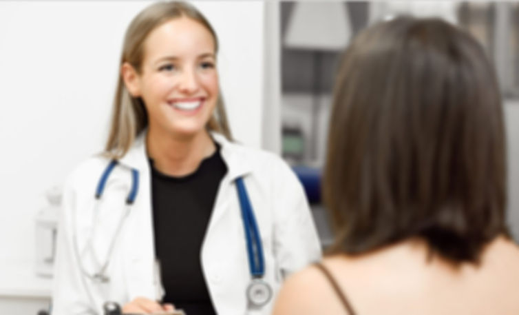 smiling female physician