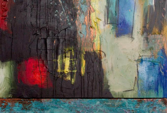 Behind the Blue Door 36X54