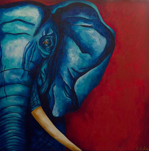 Blue Elephant 36X36