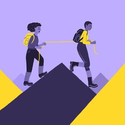Women_Hiking_Illu