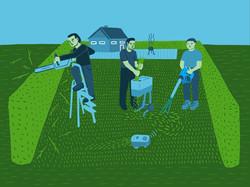 men gardening