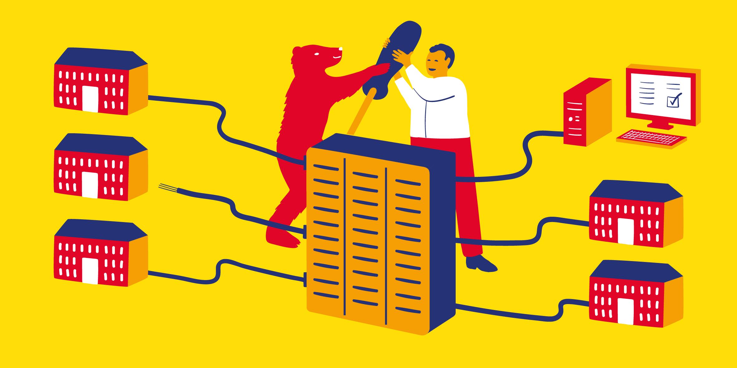 Illustration Server Berlin