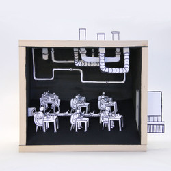 2016_Papercut_3D_Woodbox_Kantine_Doro_Spiro