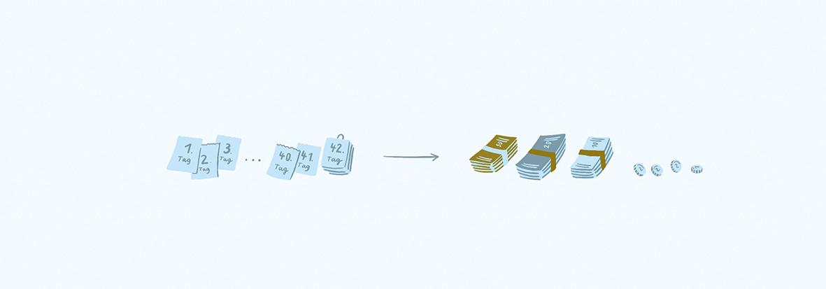 Lohnfortzahlung Illustration