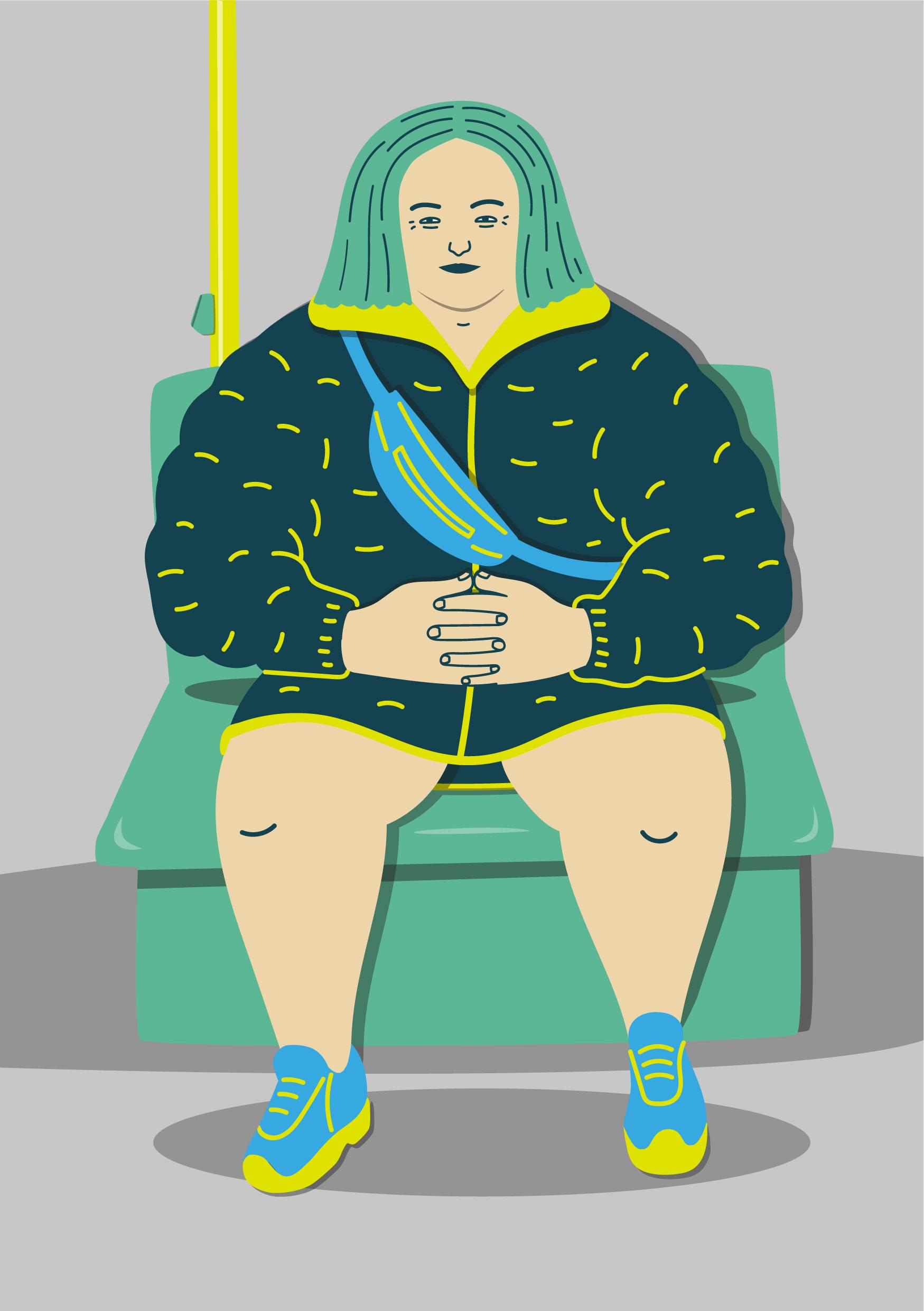 Woman Berlin Metro