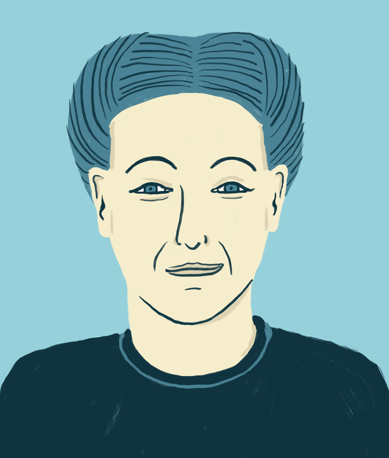 Portrait Simone de Beauvoir