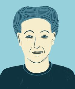 Portrait Simone de Beauvoir