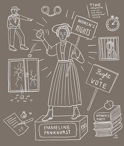 Suffragette Emmeline Pankhurst Illu