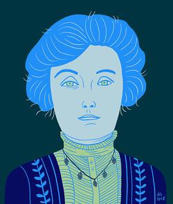 Portrait Emmeline Pankhurst