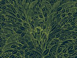 Jungle Woman Outline Art
