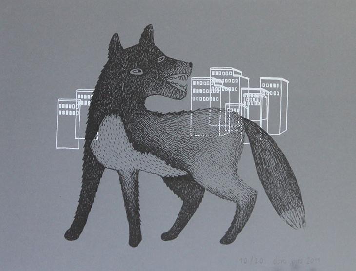 Fox in the City_Screenprint_DS