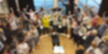 Kor-i-Lia under øvelse på Blystadlia skole