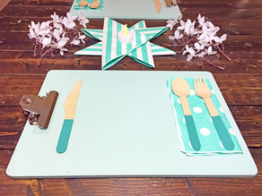 Fun Clipboard Place-Setting for the Kids