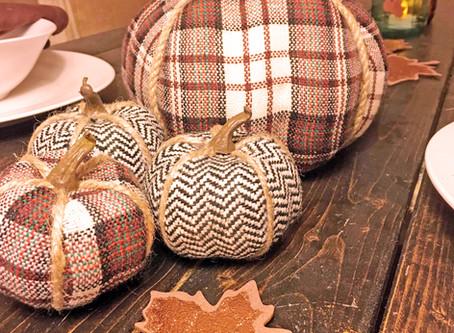 Plaid Pumpkins & Autumn Jars