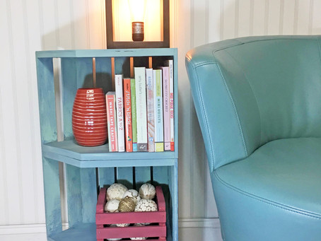 DIY Wooden Crate End Table